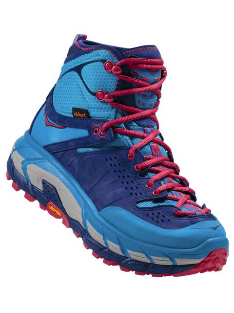Hoka One One Tor Ultra Hi WP Shoes Women blue jewel / medieval blue